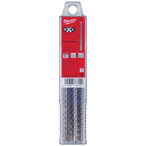 Milwaukee Broca de martillo RX4 6,5X210X150MM