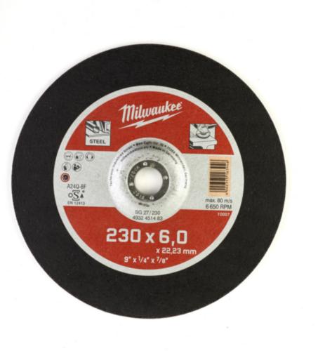 Milwaukee Deburring disc SG 27/230X6
