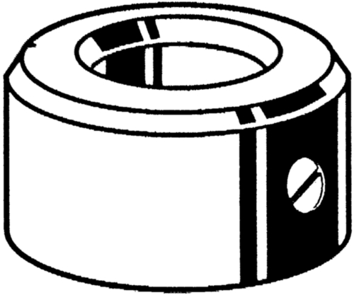Anel de ajuste com perno fenda DIN 705A/EN 27434 (DIN 553) DIN 705 A/EN 27434 Aço de corte 10X20X10MM