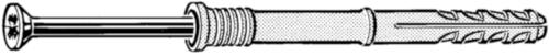 FISCHER Nagelplug type N-Z Kunststof Nylon (polyamide) Elektrolytisch verzinkt N5X50MM
