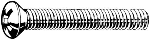 Csavar lencsefejű UNC ASME B18.6.3 ASME B18.6.3 Rozsdamentes acél A2 (AISI 304/18-8)