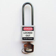 Brady Compact safe padlock 50MM SHA KD WHITE 6PC