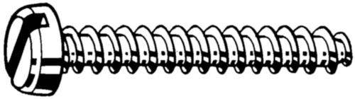 Samořezný šroub s nízkou válcovou zaoblenou hlavou s drážkou DIN 7971 F Ocel Poniklované bez hrotu