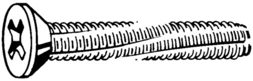 Süllyesztett fejű kereszthornyos, menetmetsző csavar DIN 7516 DE-H Acél Horganyzott