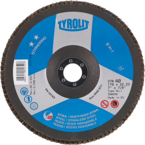 Tyrolit Flap disc 125X22,23 K120