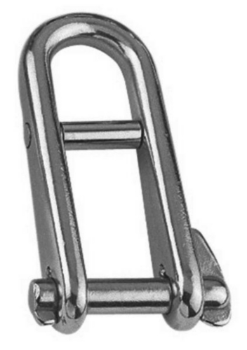 Key pin shackle with bar Stainless steel A4 6MM