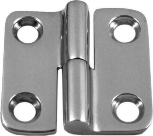 Two-part hinge right or left Stainless steel A4 37X37 Left