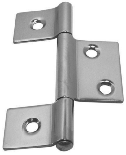 Weld-on hinge Stainless steel A2 85MM
