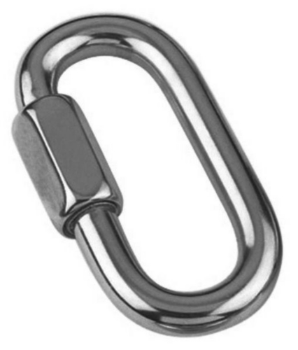 Bow (anchor) shackle with screw collar pin Steel Zinc plated