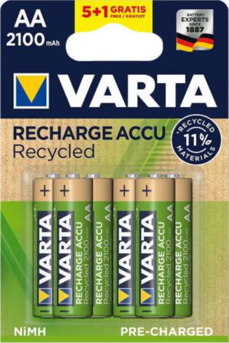 VART 5+1PC BATTERY RECHARGE AA 2100MAH