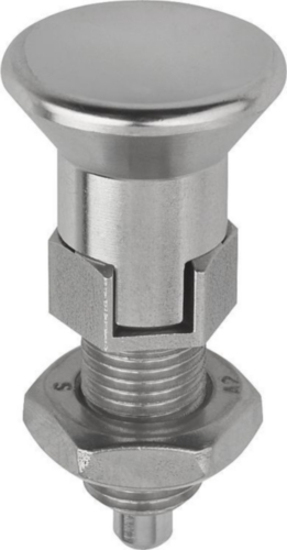 Indexing plungers, lockout type, with locknut