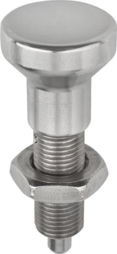 Indexing plungers without collar, with locknut