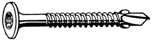 Zelfborende verzonken schroef met vleugels en Torx® Staal Elektrolytisch verzinkt dubbelverzonken