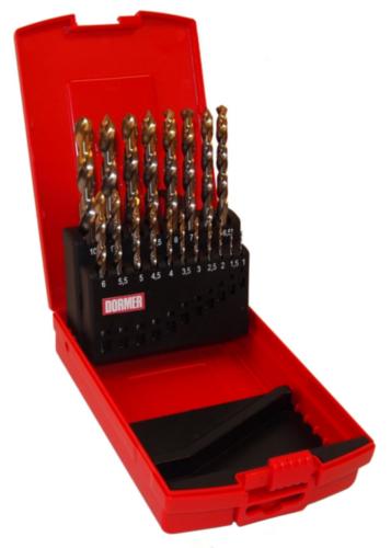 Dormer Jobber drill set A095 DIN 338 HSS Blanc/TiN 201 A002x19