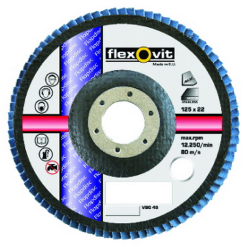 Flexovit Flap disc 115X22 R822 P80