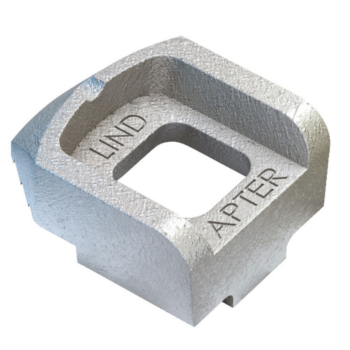LINDAPTER Steelwork fixing type A medium Malleable iron Zinc plated A medium M12