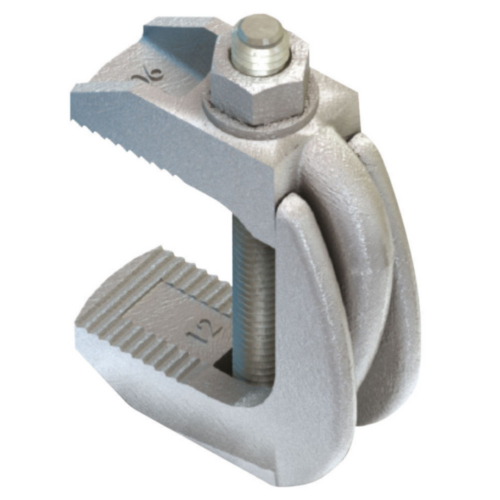 LINDAPTER Flange clamp type F9 Malleable iron Zinc plated F9 (with bolt)