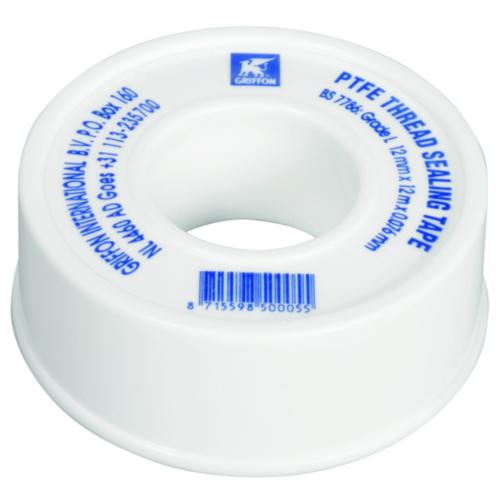 Griffon Teflon tape Wit 6150008 ROL 12MTR0,08