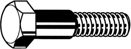 Šroub se šestihrannou hlavou s krátkým závitem DIN 609 Ocel Bez PU 8.8