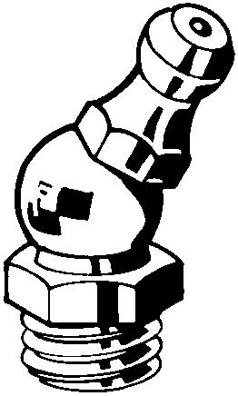 Gresoare MEF (A=180º/B=45º/C=90º) DIN ≈71412 Oțel Zincat M10X1,00-45°