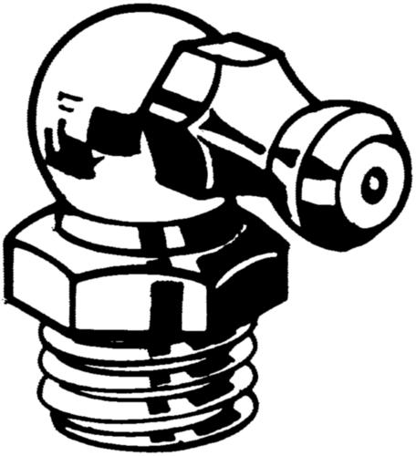 Gresoare Filet R (A=180º/B=45º/C=90º) DIN ≈71412 Oțel Zincat R1/4-90°