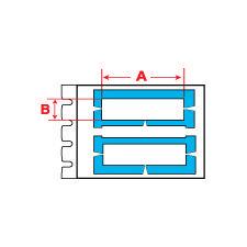 Brady Wire Marking Insert PTLRDS-16X4,4-7696YL 250PC