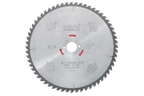 Metabo Circular saw blade HW/CT 250X30 60 WZ