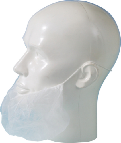 MASQUE BARBE PP BLANC 100PC