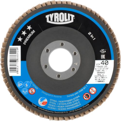 Tyrolit Disque à lamelles 125X22,23 K40