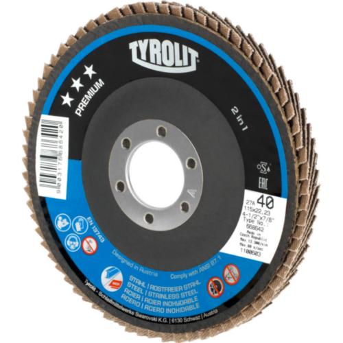 Tyrolit Flap disc 125X22,23 K80