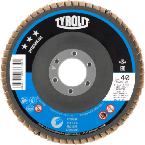 Tyrolit Disco de láminas 125X22,23 K40