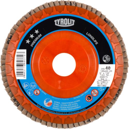 Tyrolit Flap disc 115X22,23 K80
