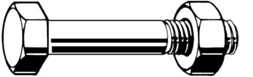 Zeskant bout din 7990 EN 15048 Staal Thermisch verzinkt 4.6/5 ISO metrisch