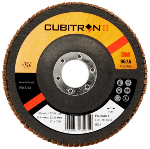 3M Cubitron II Disque à lamelles 80+ 125MM