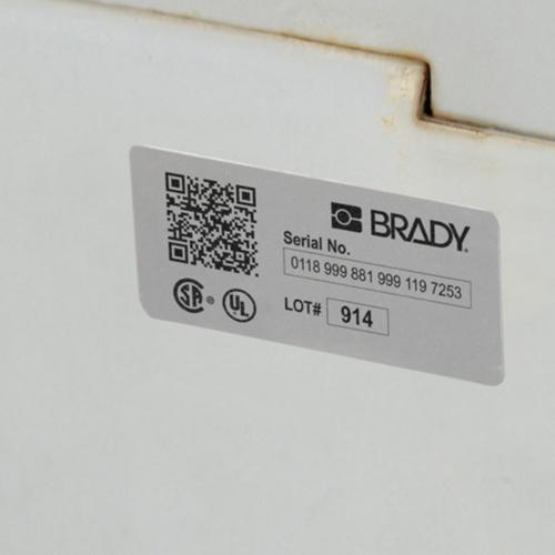 Brady Metallised Polyester Label B30-7-7563 1003PC