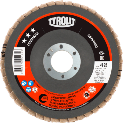 Tyrolit Lamellás korong 125X22.23 K60
