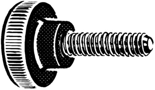 Knurled knobs series 700