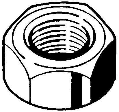 Trackshoe nut  Steel  Plain  12  thin