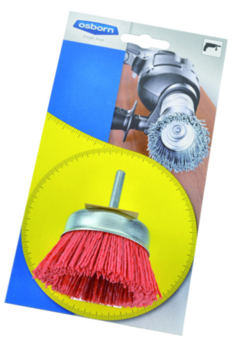 Osborn Cup brush 75MM RED GRIT 180