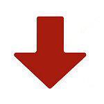 Brady Floor arrows RED 50,8X127 100PC