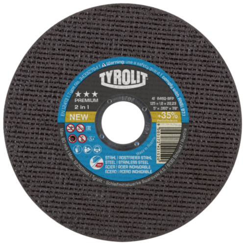 Tyrolit Cutting disc 125X1,6X22,23