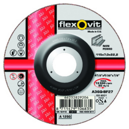Flexovit Disco desbarbado A36Q 180X7X22,23 T27