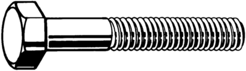 Hexagon head cap screw UNF ASME B18.2.1 Steel SAE J429 Plain Gr.8 1/4-28X1.1/2