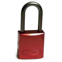 Brady Full alu padlock 40MM SHA KD RED 6PC