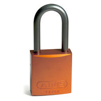 Brady Full alu padlock 40MM SHA KD ORANGE 6PC