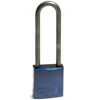 Brady Full alu padlock 75MM SHA KD BLUE 6PC
