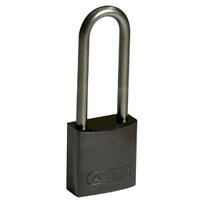 Brady Full alu padlock 75MM SHA KD BLACK 6PC