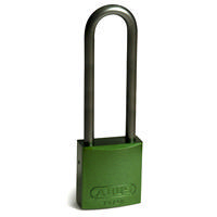 Brady Full alu padlock 75MM SHA KD GREEN 6PC