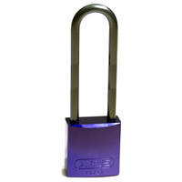 Brady Full alu padlock 75MM SHA KD PURPLE 6PC