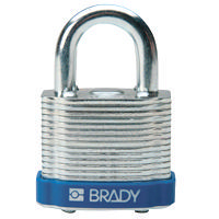 Brady Steel padlock  20MM SHA KD BLUE 6PC